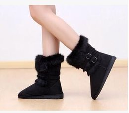 Wholesale Leather Boots Direct - Factory direct supply Wholesale ! winter influx of thick scrub quilted snow boots Imitation fox fur women boots Fur boots 113002