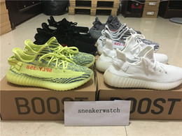 Wholesale Tinted Pvc - Cream White Boost 350 V2 Beluga 2.0 Zebra Bred New Kanye West Running Shoes Frozen Yellow Blue Tint 350 V2 Discount Store With Box Wholesale