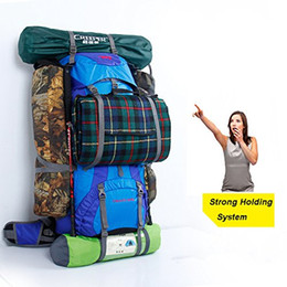 Wholesale Polka Dot Knit Fabric - High-quality 60L+5L Outdoor Hiking Climbing Mountaineering Backpack Waterproof Shoulder Bag Outdoor Travel Bag With Rain Cover