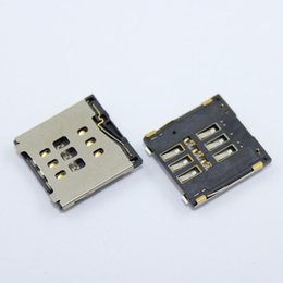 Wholesale Free Sim Reader - Wholesale-20pcs lot new sim card reader connector holder for iphone 6 4.7'   for iphone 6 plus 5.5', free shipping