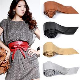 Wholesale Wide Leather Corset Belts Women - Women Faux Leather Bowknot Wide Belt Waistband Twine Corset Tie Cinch Waist Belt Band Waistband Corset Cinch Strip