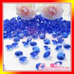 Wholesale Diamond Confetti Colors - 1000pcs lot Royal   Cobalt   Dark   Deep Blue Diamond Confetti 6.5mm 1 Carat Wedding Party Table Decoration Many Colors
