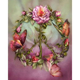 Wholesale Religious Free - Butterfly Rose 100% Full Drill DIY Diamond Painting Home Decor Diamond Mosaic Cross Stitch Embroidery Gifts Handmade (Free Shipping)