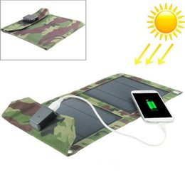 Wholesale Camera Computer Bags - Two folding 5W solar charging board charging bag mobile phone camera tablet computer solar charger free shipping
