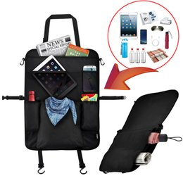 Wholesale Backseat Organizer - US UK Stock FBA Backseat Car Organizer Cellphone Holder For Charger, ipad, Car Phone Case Cover Pocket Toys Tablet Bottle Umbrella
