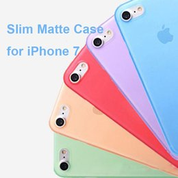 Wholesale Thin Clear Flexible Plastic - 0.3mm Ultra Thin Slim Matte Frosted Transparent Clear Flexible Soft PP Cover Case Skin for Iphone 6 6s Plus Cell Phone