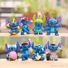 Wholesale Stitch Dolls For Sales - Hot Sale Stitch Action Figures Cartnoon Movie Lilo and Stitch PVC Toys Mini Stitch Figures 8 Styles Doll Collectible Model Gift for Children