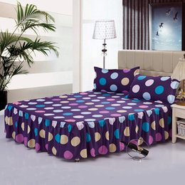 Wholesale Single Bedding Sets - home textile single bed skirt spreads set fitted sheet sheets queen and king size bed cover 100%cotton B-40 Free shipping