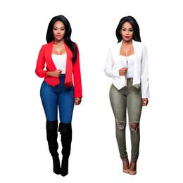 Wholesale Brand Women Blazers - NEW blazer women suit blazer foldable brand jacket made of cotton & spandex with lining Vogue refresh blazers