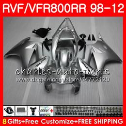 VFR800 Für HONDA Interceptor rote Flammen VFR800RR 98 05 06 07 08 09 10 11 90HM19 VFR 800 RR 1998 2005 2006 2007 2008 2009 2010 2011 Verkleidung von Fabrikanten