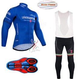 Wholesale Thermal Winter Clothes - New Pro Men's Cycling Winter Thermal Fleece Jersey tour de Italy Mtb Bike Long sleeve Cycling Clothing set Ropa Ciclismo