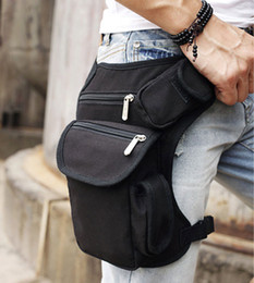 Wholesale Waist Pack Motorcycle - Outdoor Canvas Drop Waist Leg Bags Waist Pack Bag Men Running Belt Bicycle And Motorcycle Money Belt Fanny Pack 08