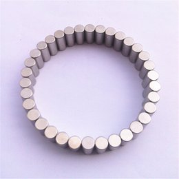 Wholesale Wholesale Magnet Bracelets - Wholesale-Top Quality Black Expoy Cylindrical Magnet 4x12mm Neodymium Strong Magnetic Bracelet Healing For Sport Free Shipping