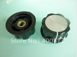 Wholesale Skirted Knob - Wholesale-Rotary Pot Switch Skirt Boss knob A05 D 45mm H 20.3mm Hole Diameter 6mm