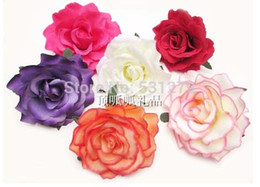 Wholesale orange blossom flower - NEW big blooming Artificial Rose blossom 9cm Silk Flower Heads for decoration mariage free shipping 10pcs lot