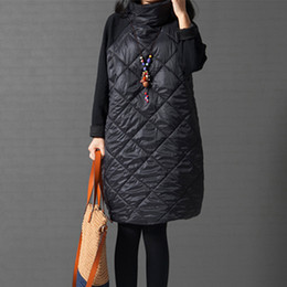 Al por mayor- Tallas grandes abrigo de chaqueta de mujer, Winter Parkas cálido, Patchwork Ropa Mujer cuello alto de algodón Vestidos chaqueta de algodón acolchado 5XL 6xl 7XL desde fabricantes