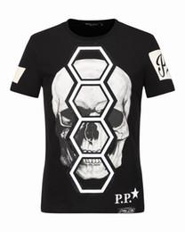 Wholesale Cheap Mens Plaid Shorts - Cheap Mens Plaid t-shirts 2017 Skulls & Diamonds 3D Printed Cotton t shirts famous Short-Sleeved Shirt Male Tee Shirts Coats 18245