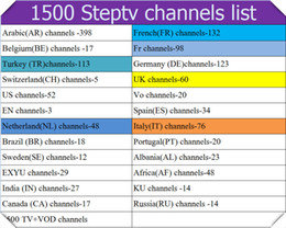 Wholesale Usa Packages - Steptv Subscription Europe IPTV Channel Arabic Belgium Dutch Italy Germany Albania TV Package African French EXYU VOD Movie USA UK Account
