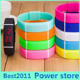 Wholesale Womens Watches Silicone New - Small Order Newly Design Mens Womens Unisex Candy Color Rubber LED Watch Date Sports Bracelet Digital Wrist Watches