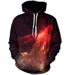 Wholesale Men S Fashion Outfits - Nebula Galaxy Print 3d Hoodie punk Women Men Sweatshirts Harajuku Jumper Outfits Casual Sweats plus size Free shipping