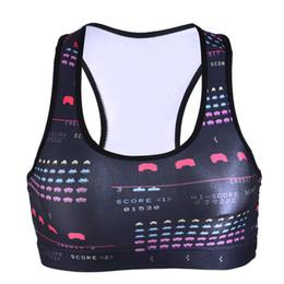 Wholesale Red Shirts Game - NewArrivalSports Bras Bodybuilding Yoga Vest Trainning Slim Women Tank Tops High Elastic Quick Dry Pacman Game Sleeveless Shirts LNSsb
