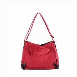 Wholesale Cool Canvas Art - Cool Korean Female Canvas Casual Fashion Art RETRO Shoulder Bag Large Canvas Bag Cross Handbags