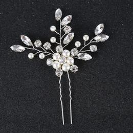 Wholesale Wholesale Swarovski Hair Pins - Silver Gold Vines Bridal Hair Pins Wedding Hair Accessories Bridal Hair Jewelry Headpiece Hairpieces Swarovski Crystal Pearl Bridesmaid Pins