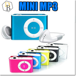 Wholesale Mini Clip Mp3 Player Box - Mini Mp3 Play With Clip music Player Support SD CARD TF Slot Colorful choice with Box EQ MODE WMA WAV ASF USB CABLE