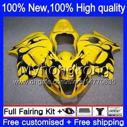Wholesale Hayabusa Yellow - Body Bodywork For SUZUKI Hayabusa GSXR1300 08 09 10 11 Yellow black 19XH46 GSX R1300 2008 2009 2010 2011 GSXR 1300 12 13 14 15 Fairing kit
