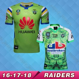 Wholesale Raiders Shirt L - Free shipping New Zealand 17 18 RAIDER NRL Men Rugby Jersey Super Rugby 2016 2017 RAIDER Oakland home rugby shirt S-3XL