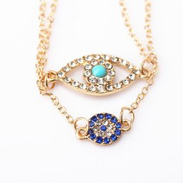 Wholesale Good Luck Bracelets For Women - 2016 Newest Gold Fatima Hamsa Good Luck Evil Eye Alloy Bracelet Charm Bracelets For Women Girl Best Friends Jewelry