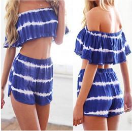 Wholesale Woman Korean Short Pants - 2016052911 Summer 2015 Fashion Women Short Pants Korean Oversize Striped Shorts Women Casual Loose Pants 2 Pcs Set Crop Top Pants Plus Size