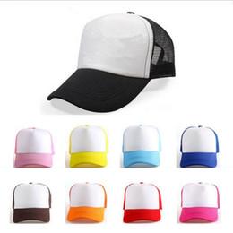 Wholesale Kid Flat Hats Wholesale - Kids Trucker Cap Adult Adjustable Mesh Caps Blank Trucker Hats Snapback Hats kid Adult Acept Custom Made Logo YYA248