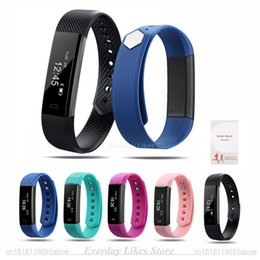 Wholesale Monitor Counter Watch - Original ID115 Smart Bracelet Fitness Tracker Watch Alarm Clock Step Counter Smart Wristband Band Sport Sleep Monitor Smartband