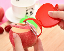 Wholesale Fruit Skins - Factory Price Beautifully foldable apple-shaped fruit peeler fruit skin is peeled potatoes planing planing knife planer