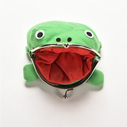 Wholesale Naruto Kid - Naruto Cute Frog wallets children kids Frogs Plush Coin zero Purse Uzumaki pouch handbag cosplay goods with Iron button