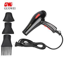 Wholesale Compact Machines - Guowei Portable Powerful Electric Traveller Compact Hair Dryer Foldable Handle Electric Hair Dryer Machine Styling Tools +TB