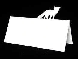 Wholesale Wedding Placecard - Fox Sillouette Escort place Cards, rustic Wedding Tented seating table number card Placecard