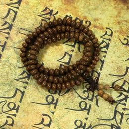 Wholesale Tibetan Rosary Bracelets - Natural Wenge wood suanpan bead 108 bead Buddhist prayer bracelet japa rosary mala necklace Tibetan buddha meditation tool N1062