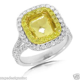 Wholesale Emerald Semi Mounts - 8.5X6.5MM Emerald Cut Diamond Semi Mount Ring Setting 18K Multi 2 Tone Gold 0.98