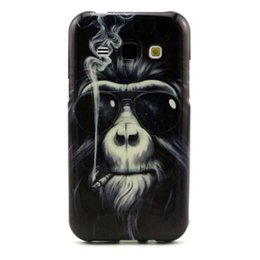 Wholesale Monkey Phone Covers - 1PC Owl Monkey TPU IMD Soft Gel Rubber Soft Back Phone Cover Case For Samsung Galaxy J1 J100 J5 J5008 J500F J7 J700F Plastic Cellphone Cases