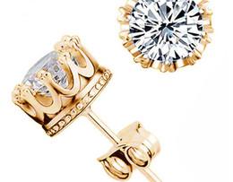 Wholesale Sterling Silver Earrings For Men - 925 silver earrings natural crystal wholesale fashion small sterling silver jewelry for women stud men or women earings