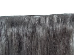 Wholesale Hand Tied Hair Extensions - new arrive brazilian hand tied straight hair weft human hair extensions unprocessed dark brown color