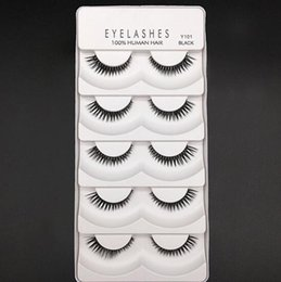 Wholesale Type Lashes - Red Cherry False Eyelashes Human Hair Handmade Fake Eye Lashes Thin Thick Long Many Types DHL