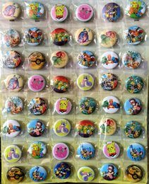 Wholesale Plastic Bags For Party - Pikachu Poke 3CM 48 pcs lot set PIN BACK BADGES BUTTONS NEW FOR PARTY CLOTH BAG GIFT ANIME CARTOON GAME MOVIE COLLECTION