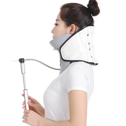 Wholesale Neck Collar Support - Inflatable Light Car Neck Support Brace Neck Pain Stiffness Relief Cervical Neck Support Collar Head Support Cushion