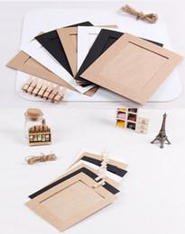 DIY 5x7 polegadas pendurado quadros de papel foto moldura da parede para decoração de casa, 7 pçs / set, incluindo a taxa de envio de