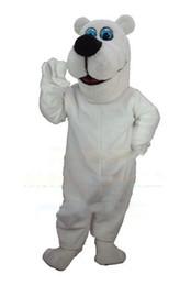 Wholesale Animal Mascot Adult Suit - Toon Polar Bear Mascot Hot Sale Adult Size Animal Theme White Bear Mascotte Mascota Outfit Suit Fancy Dress Cosply