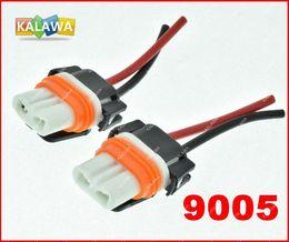 Wholesale Headlight Connector - 10pcs lot Ceramic Copper 9005 HB3 bulb socket,auto lamp base adapters car headlight connector FREESHIPPING GGG copper scourer