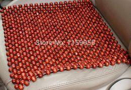 Wholesale Bead Seat Cushion - The new 2014 summer car massage cushion bead cushion monolithic natural pure color logs manual wood bead cool car seat cushion